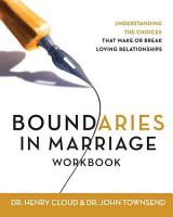 Boundaries in Marriage Workbook PDF