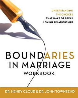 Boundaries in Marriage Workbook Book