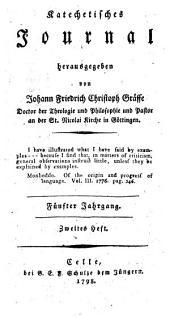Katechetisches Journal: Fünfter Jahrgang. Zweites Heft