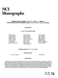 NCI Monographs PDF