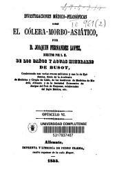 Investigaciones médico-filosóficas sobre el cólera-morbo-asiático