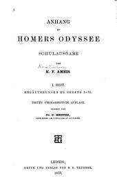 Anhang zu Homers Odyssee: schulausgabe, Bände 1-4