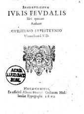 Institutionum juris feudalis ll. IV