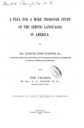 A Plea for a More Thorough Study of the Semitic Languages in America