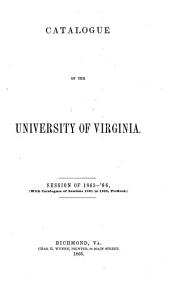 A Catalogue of the Officers and Matriculates of the University of Virginia