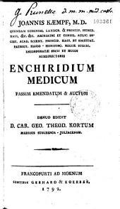 Enchiridium medicum: passim emendatum et auctum