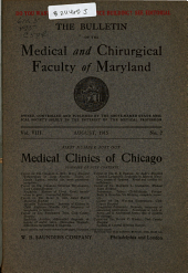 The Bulletin of the Medical and Chirurgical Faculty of Maryland: Volume 8, Issue 2