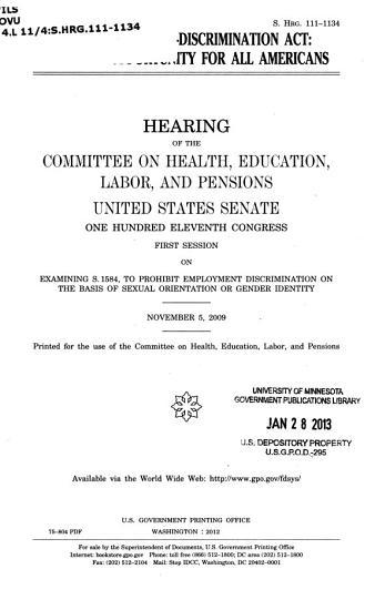 Employment Non Discrimination Act PDF