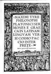 Sermones e graeca in lat. versi Cosmo Paccio interpr