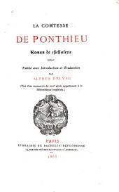 La comtesse de Ponthieu: roman de chevalerie, inédit