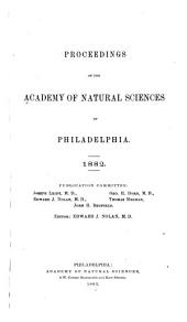Proceedings of the Academy of Natural Sciences of Philadelphia: Volume 34