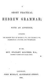 A short practical Hebrew grammar