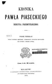Kronika Pawła Piaseckiego, biskupa przemyslskiego
