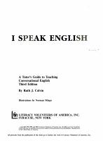 I Speak English PDF
