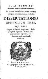 In priores 18 primi capituli Evang. sec. Joannem versiculos Dissertationes epistolicae: Volume 3