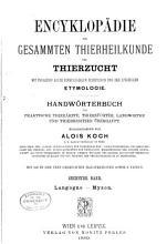 Encyklop  die der gesammten Thierheilkunde und Thierzucht PDF