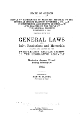 General Laws and Joint Resolutions and Memorials