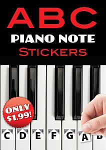 A B C Piano Note Stickers