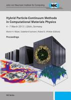 Hybrid Particle Continuum Methods in Computational Materials Physics PDF