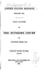 United States Reports: Cases Adjudged in the Supreme Court, Volume 231