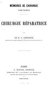Mémoires de chirurgie: Volume1