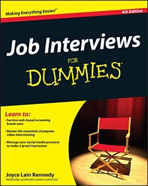 Job Interviews For Dummies PDF