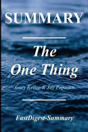 Summary   The One Thing Book