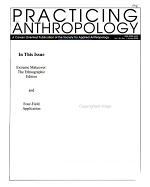 Practicing Anthropology PDF