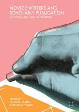 Novice Writers and Scholarly Publication PDF