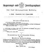 Regierungs- und Intelligenzblatt für das Herzogtum Coburg: 1850