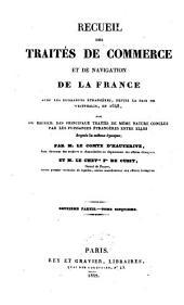 Recueil des traites de commerce et de navigation de la France avec les puissances etrangeres depuis la paix de Westphalie en 1648: Volume8
