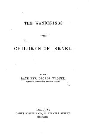 The Wanderings of the Children of Israel PDF