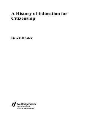 A History of Education for Citizenship PDF