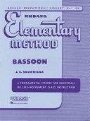 Rubank Elementary Method - Bassoon