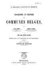 Géographie et histoire des communes belges: dl: Volume2