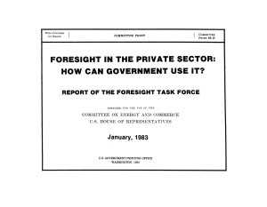 Foresight in the Private Sector