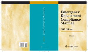 Emergency Department Compliance Manual  2015 Edition
