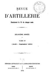 Revue d'artillerie: Volume4