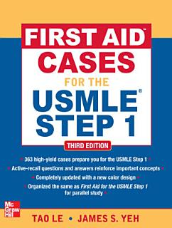 First Aid Cases for the USMLE Step 1  Third Edition Book