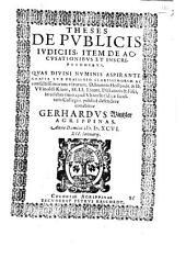 Theses de publicis iudiciis