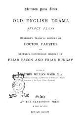 --Old English Drama: Select Plays