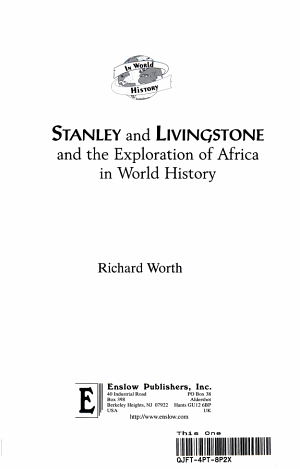 Stanley and Livingstone and the Exploration of Africa in World History