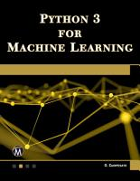 Python 3 for Machine Learning PDF