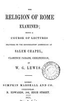The religion of Rome examined  a course of lectures PDF