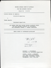 United States of America V. Malave: Issues 93-2579