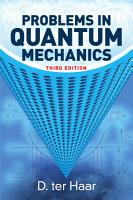 Problems in Quantum Mechanics PDF