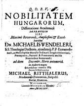 De nobilitate Hungarorum diss. acad