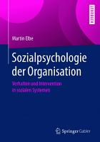 Sozialpsychologie der Organisation PDF