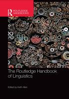 The Routledge Handbook of Linguistics PDF
