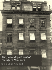 The Police Department of the City of New York: A Statement of Facts